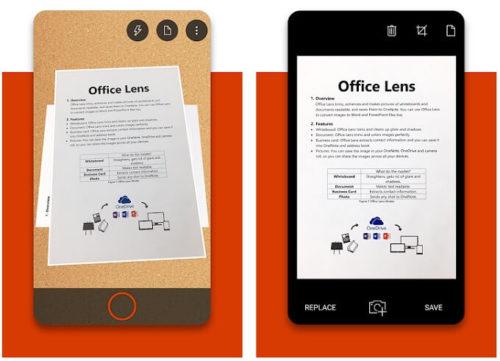 マイクロソフトが出しているスキャナーアプリオフィスレンズの写真