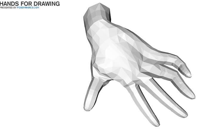 ポーズマニアックの手ビューワによる手をつく画像