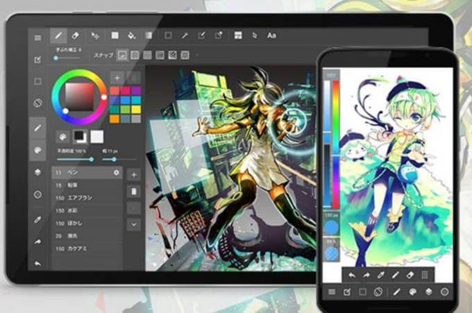 お絵描きアプリメディパンペイントのスクリーンショット