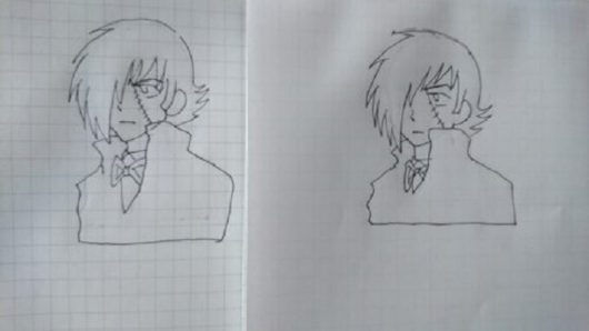 ダイソーとセリアのノートで描いたイラストの比較