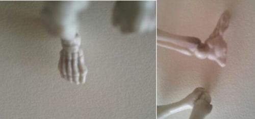ポーズスケルトンの複数の足の角度