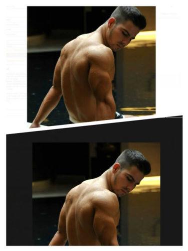 クイックポーズの裸の男性の写真