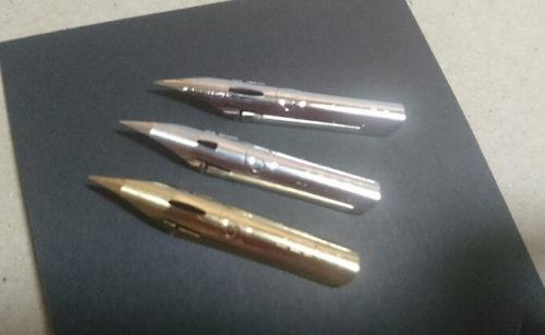 ゼブラのチタンG、ハードG,Gペンが試せる書き味くらべ